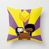 fez Throw Pillows featuring Pulp Fez by Ihazart