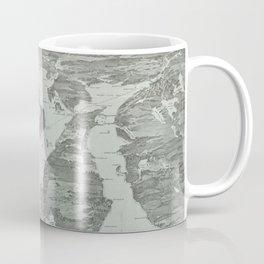 Vintage Pictorial Map of Narragansett Bay (1907) Coffee Mug