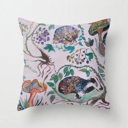 Firefinch Throw Pillow