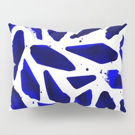 Cobalt Blue Ink Blots Pillow Sham
