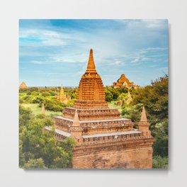 Sunlit Buddhist Temple in Burma Fine Art Print Metal Print