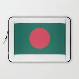 Flag of Bangladesh. The slit in the paper with shadows.  Laptop Sleeve