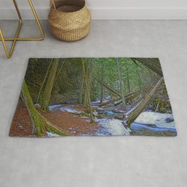 The Trail to the Falls - Nature Photo HDR Rug