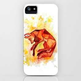 Angular maned wolf watercolor painting iPhone Case