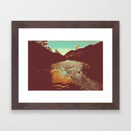 Moomlight over the river Poster Framed Art Print