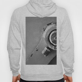High Contrast Industrial Machine Abstract Study Hoody