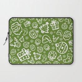XMAS Green Pattern / Part One Laptop Sleeve