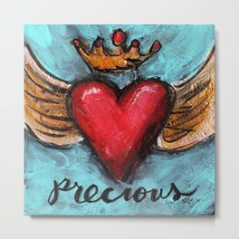 Crowned Heart -  Precious Metal Print