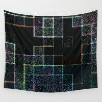 tetris Wall Tapestries featuring Tetris by Audrey Erickson