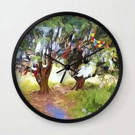 Wishing Tree on Tara Hill Wall Clock