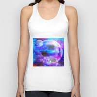 paradise Tank Tops featuring paradise by haroulita