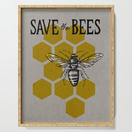 Save the Bees Serving Tray