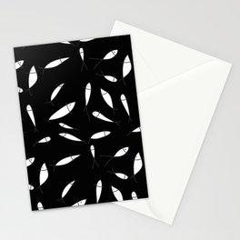 Fish pattern black Stationery Cards
