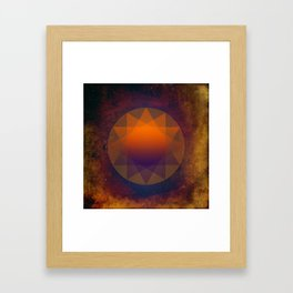 Merkaba, Abstract Geometric Shapes Framed Art Print