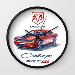 dodge challenger srt 8 Wall Clock