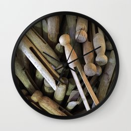When Pins Were for Laundry, Not Images Wall Clock