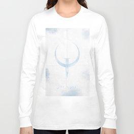 Quake, minimalist poster, videogame, doom, shooter, vintage, retro, arcade, Commodore 64 Long Sleeve T-shirt