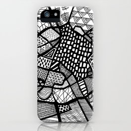 Manchester Map City Centre UK iPhone Case