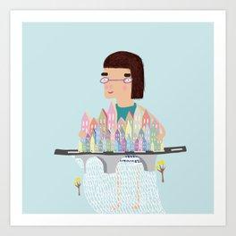 Who owns whom? Art Print