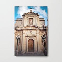 Mdina Cathedral in Matla Metal Print