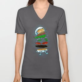 The Astronaut Burger Unisex V-Neck