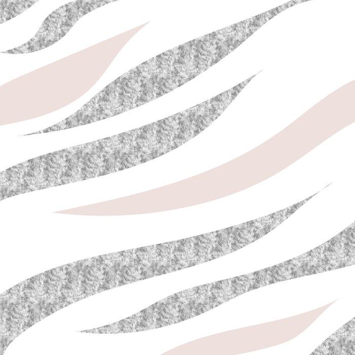 HAPPY ABSTRACT | silver-orange zebra pattern Duvet Cover