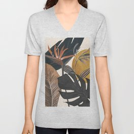 Abstract Tropical Art III Unisex V-Neck