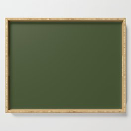 Chive Green Trending Color Solid Basic Simple Plain Serving Tray