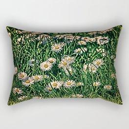 Daisy Carpet Dark Rectangular Pillow