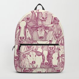 just cattle cherry pearl Backpack