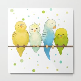 The Budgie Bunch Metal Print