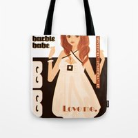 baloon Tote Bags featuring DOLLY BALOON DRESS  by Chandelina