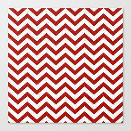 Simple Chevron Pattern - Red & White - Mix & Match with Simplicity of life Canvas Print