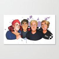boys Canvas Prints featuring Boys by gabitozati