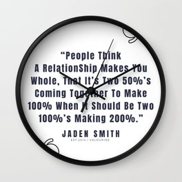 19  |  Jaden Smith Quotes | 190904 Wall Clock