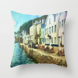 Bayards Cove, Dartmouth,  Devon Throw Pillow