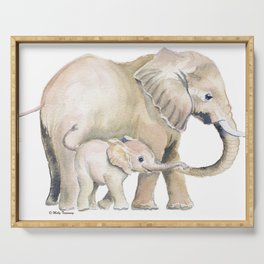 Mom and Baby Elephant 2 Serving Tray