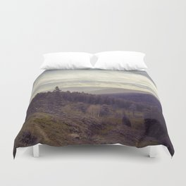 Above The Mountains Duvet Cover