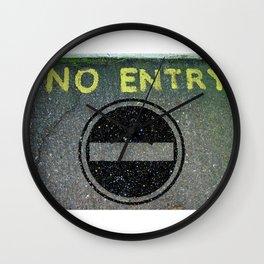 NO ENTRY 03 Wall Clock