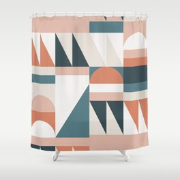Cirque 06 Abstract Geometric Shower Curtain