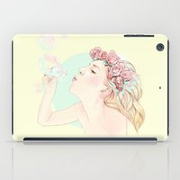 bubbles iPad Cases featuring Bubbles by Ariana Perez