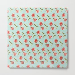folk flower Metal Print