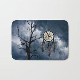 Black Bird Crow Tree Dream Catcher Night Moon A082 Bath Mat