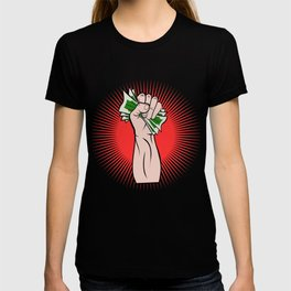 A Great Gift For Business Minded Persons With An Illustration Of A Hand With Money T-shirt Design T-shirt