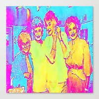 golden girls Canvas Prints featuring Golden Girls by americanmikey