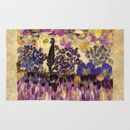Petals As Paint - Purple Passion Rug