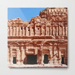 Palace of Petra Nabatean Kingdom Ruins Metal Print