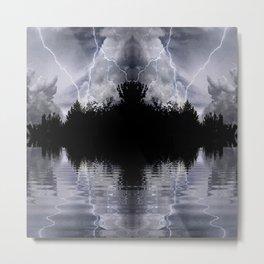 Dark Island Storm Metal Print