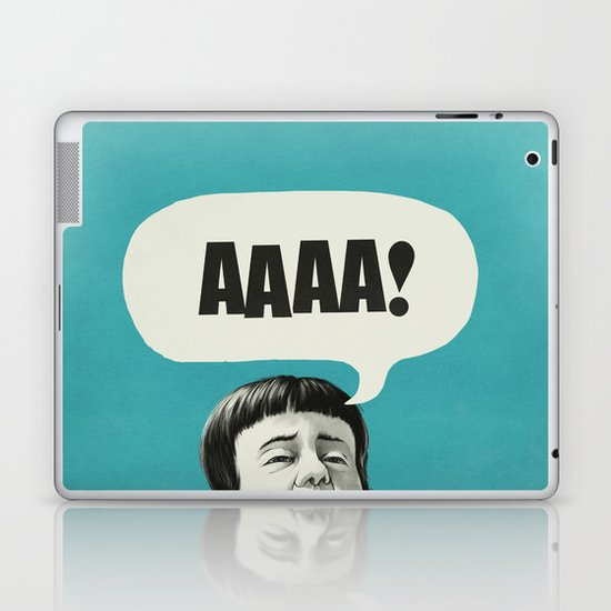 AAAA! (Blue) Laptop & iPad Skin