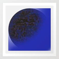Q-BLUE Art Print